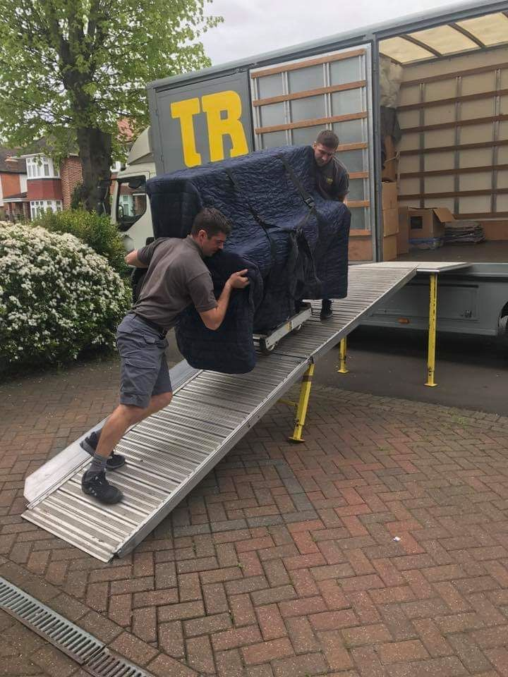 our team moving furniture