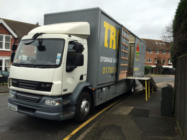 trux removals and self storage cheshunt van
